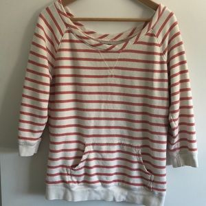 Red & white striped Lucky Brand sweatshirt